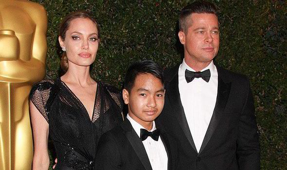 Image result for brad pitt + angelina jolie + maddox