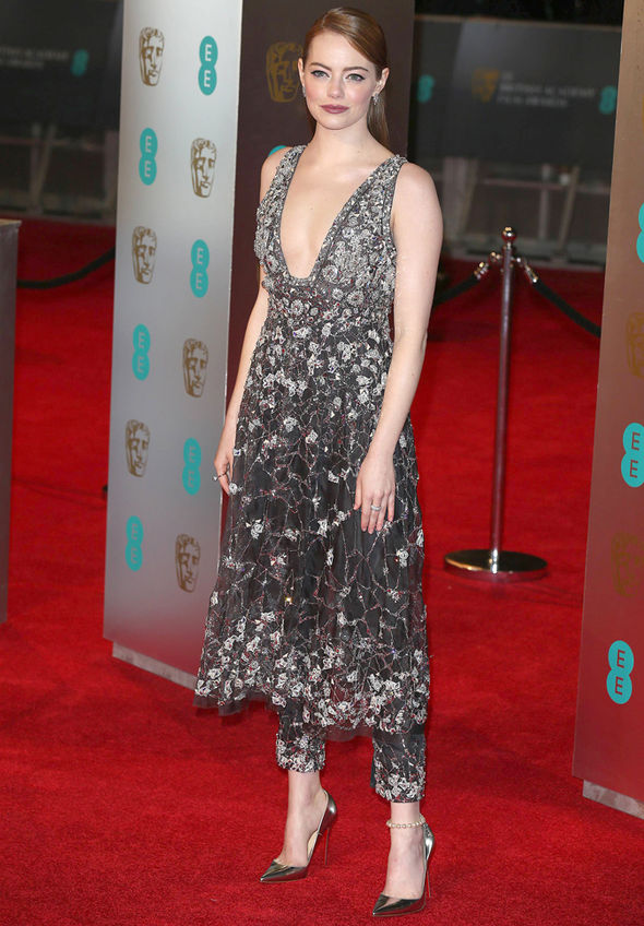 BAFTAs 2017 Emma Stone Zoe Ball La La Land