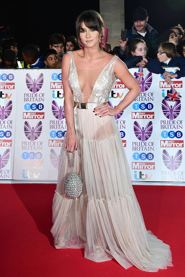 Brooke Vincent went braless in the sheer frock