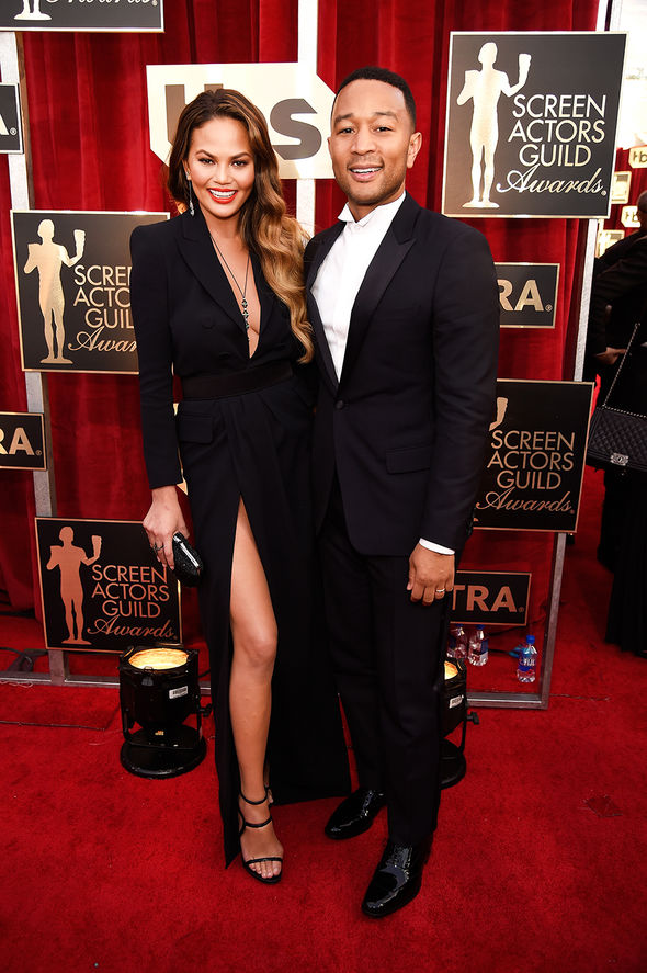 Chrissy Teigen and John Legend at SAG Awards
