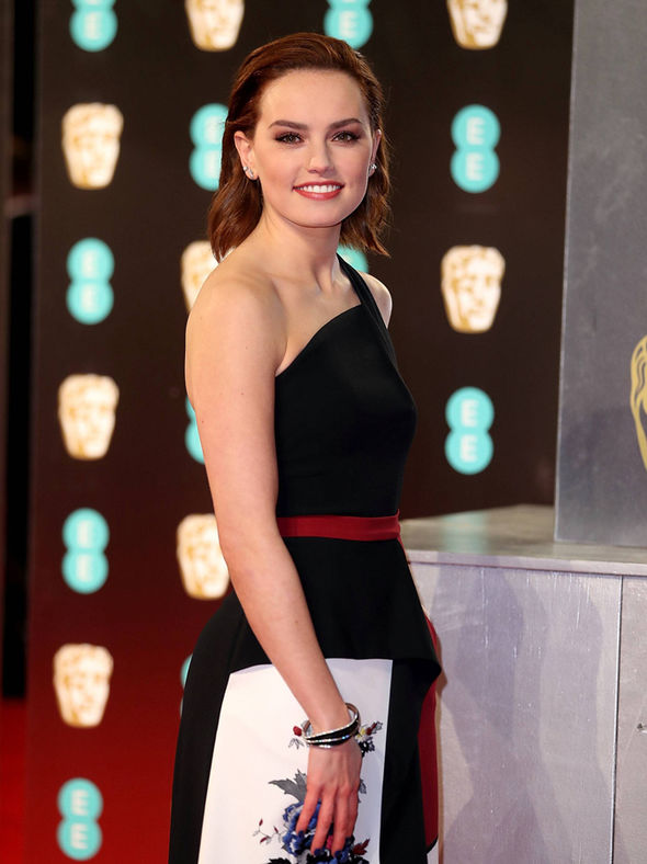 Star Wars actress Daisy Ridley on the BAFTAs red carpet