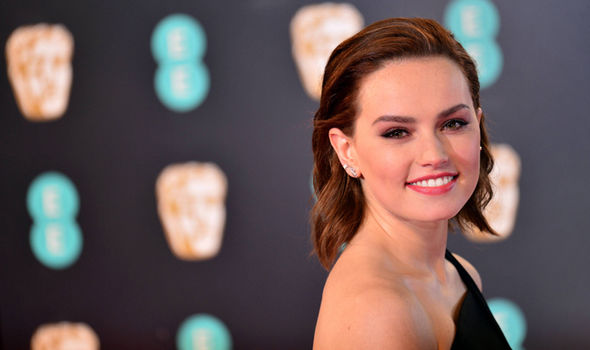 Star Wars actress Daisy Ridley at the BAFTAs 2017 red carpet