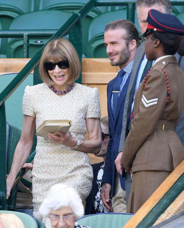 David Beckham Anna Wintour