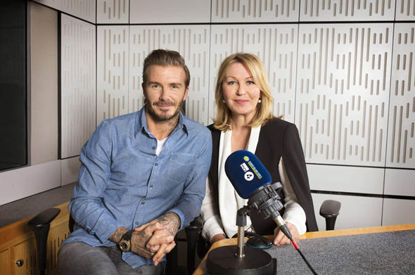 David Beckham and Kirsty Young