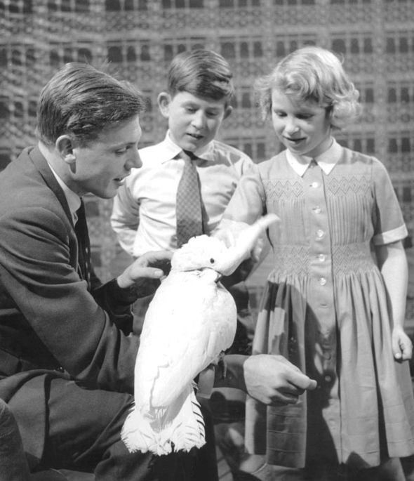 David met Princess Anne and Prince Charles when they visited the BBC studios in 1958