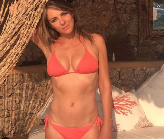 Elizabeth Hurley  Puts On Jaw Dropping Display In Barely There