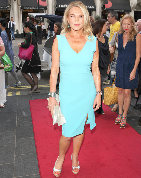 Good Karma Hospital Amanda Redman cleavage throwback