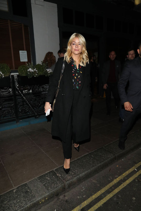 Holly Willoughby night out Mike Skinner