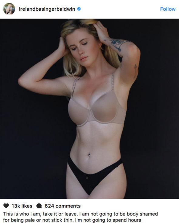 Ireland Baldwin topless Instagram Alec Baldwin