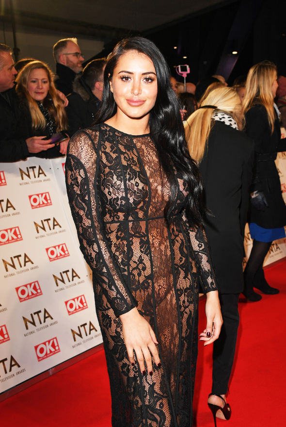 Marnie Simpson appeared to forget her underwear