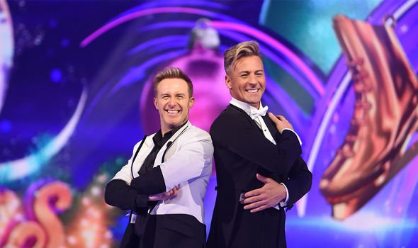 Matt Evers: The dancing star [right] admitted he only recognised Alexander's voice