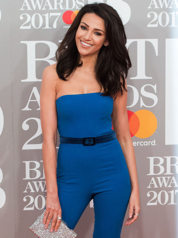 Michelle Keegan on red carpet