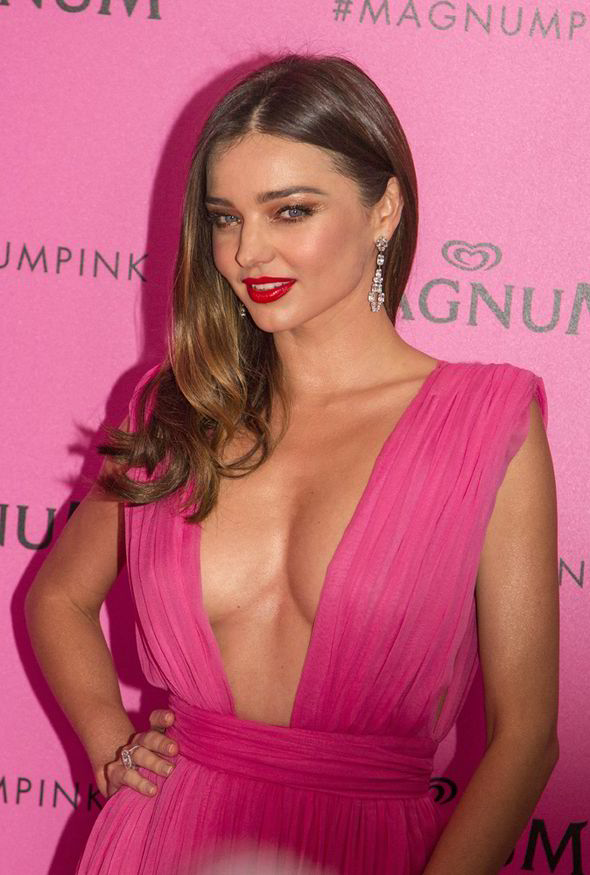 Miranda Kerr Flashes Boob AND Bum In Daring Slashed Gown