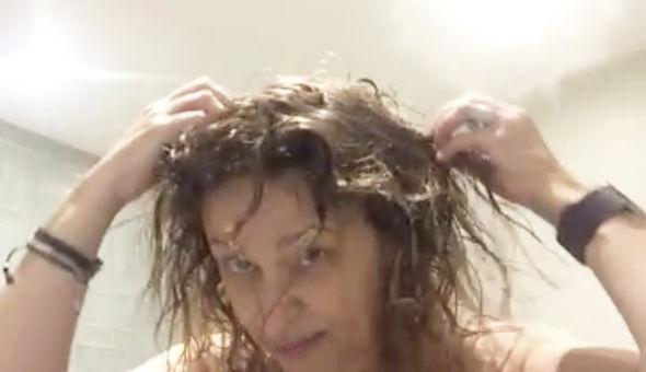 Nadia Sawalha  revealed she's losing her hair