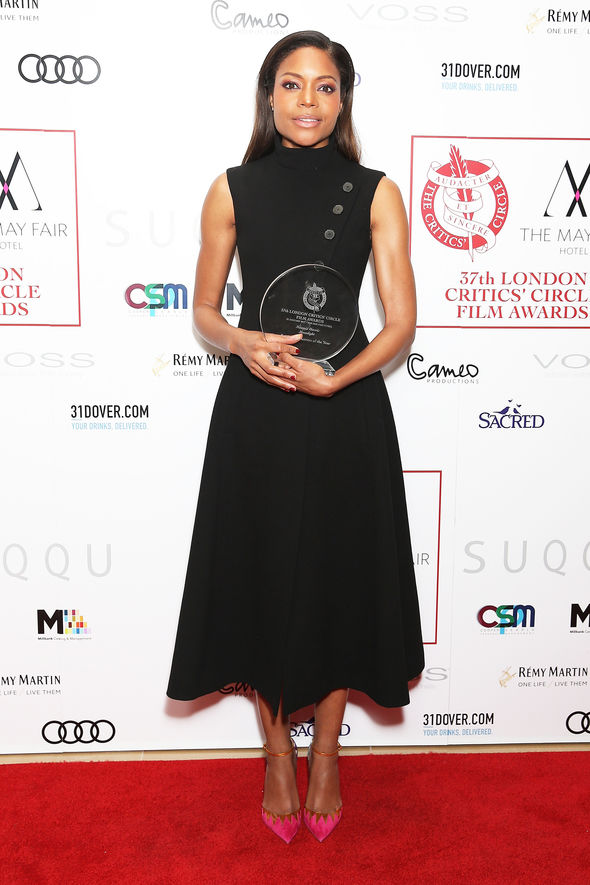 Naomie Harris scooped an award on the night