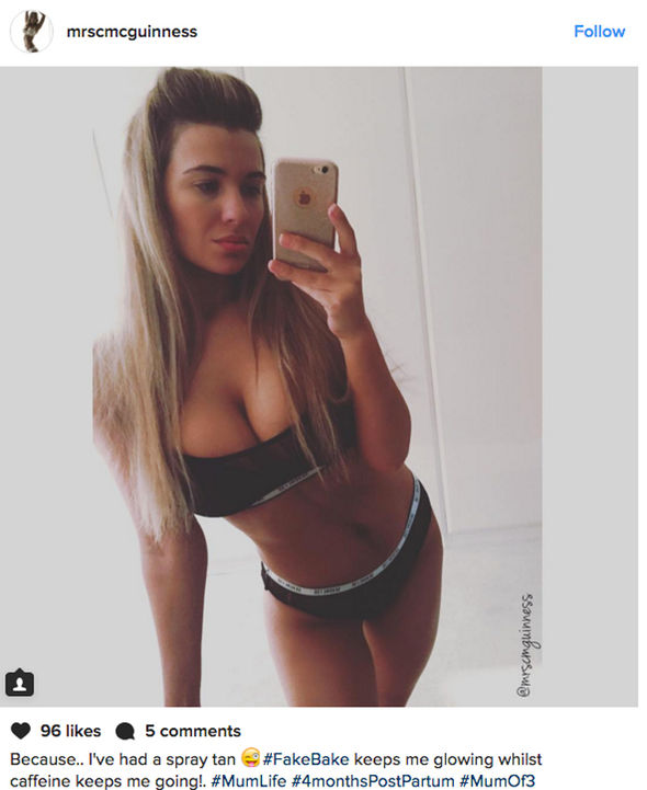 Paddy McGuinness wife Christine McGuinness Instagram underwear