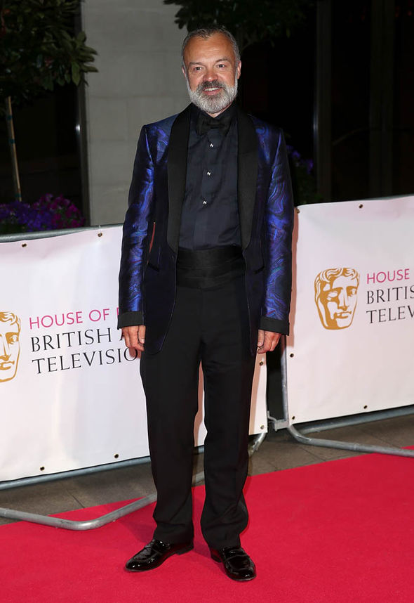 Graham Norton on red carpet