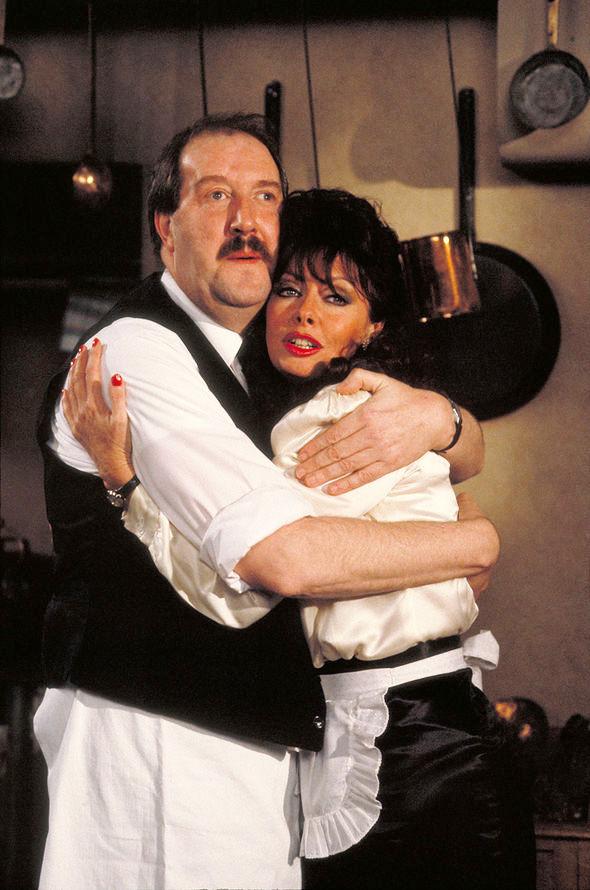 Rene Artois with his mistress Yvette