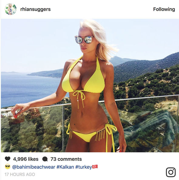 Rhian Sugden earlier posted a jaw-dropping photo