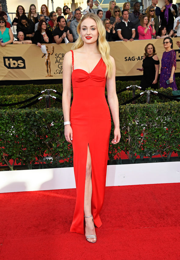 Sophie Turned turned heads at the SAG Awards
