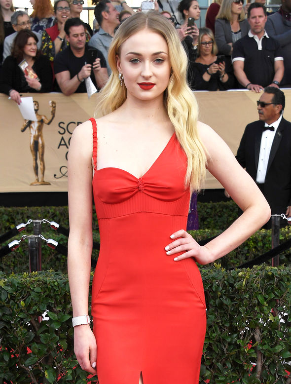 Sophie Turner at the SAG Awards
