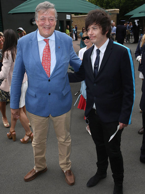 Stephen Fry and Elliot Spencer