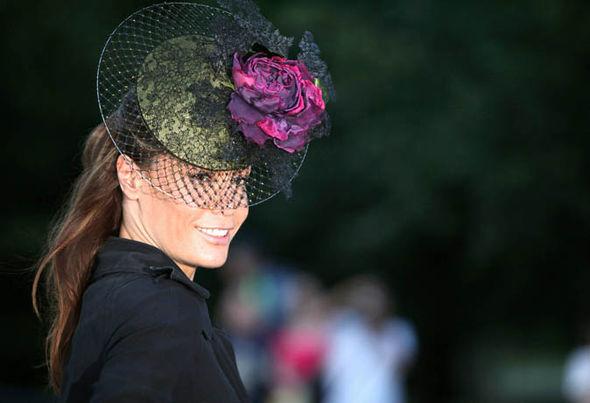 Tara Palmer-Tompkinson in hat