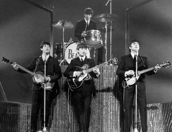 The Beatles performing