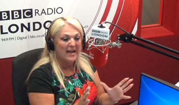 Vanessa Feltz on BBC Radio London