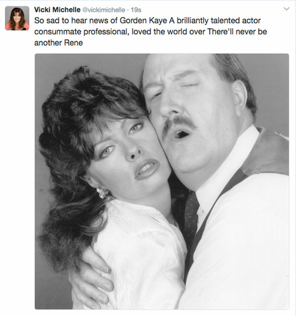 Vicki Michelle leads moving tributes to late 'Allo 'Allo! co-star Gorden Kaye