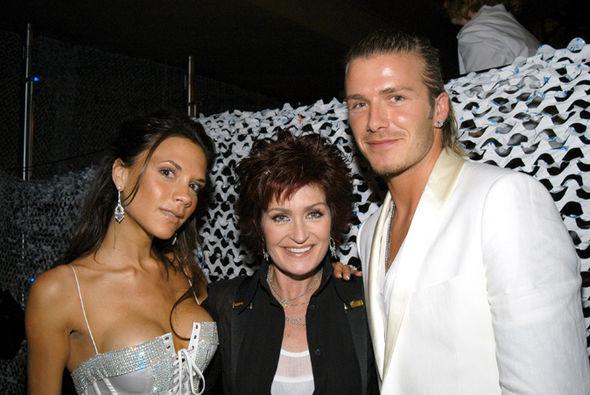 Victoria Beckham Sharon Osbourne David Beckham
