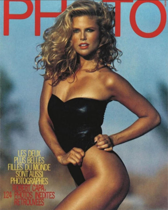 Christie Brinkley on cover of Photo