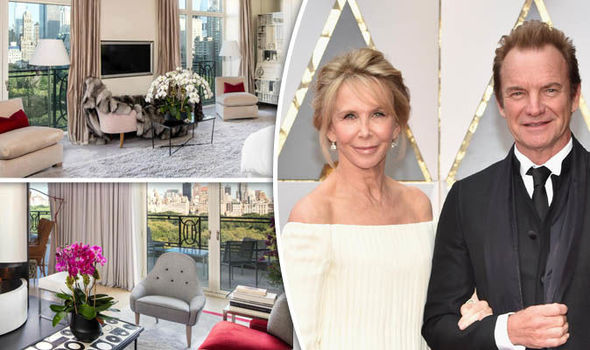 Sting and his wife Trudie Styler,