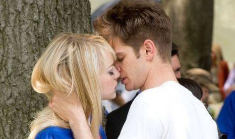 Het mooie koppeltje Emma Stone en Andrew Garfield in The Amazing Spider-Man 2