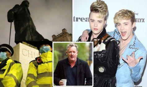 Jedward spark fury with Winston Churchill statue post 'F*** it into Piers Morgan's garden'