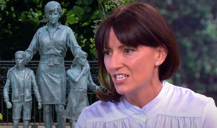 Davina McCall deletes blistering post slamming Princess Diana statue 'It feels stiff'