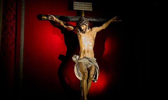 End of the world: Jesus Christ on the crucifix