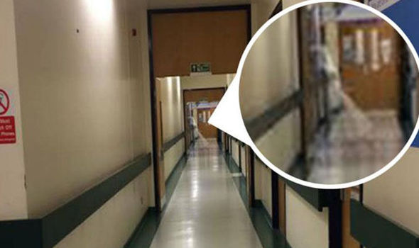 Was a ghost caught wandering in hospital corridor?