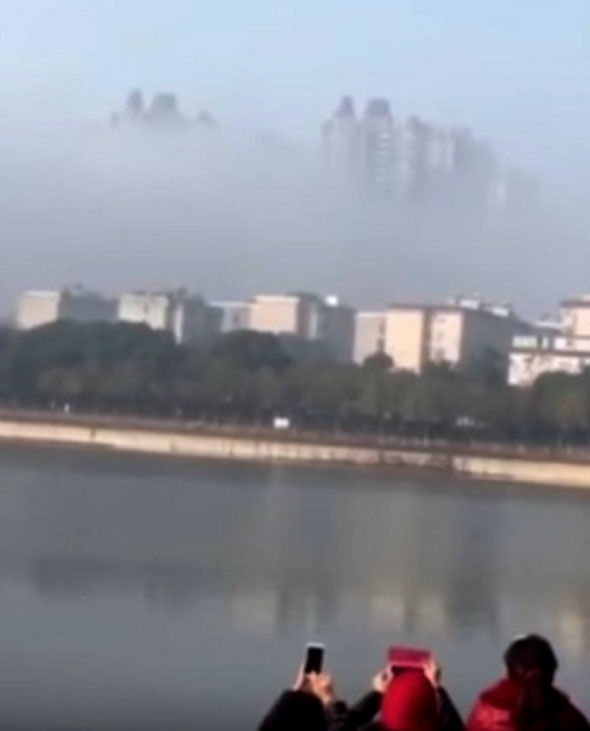 Floating city seen over Yueyang  China sparks claims of  another     Floating City
