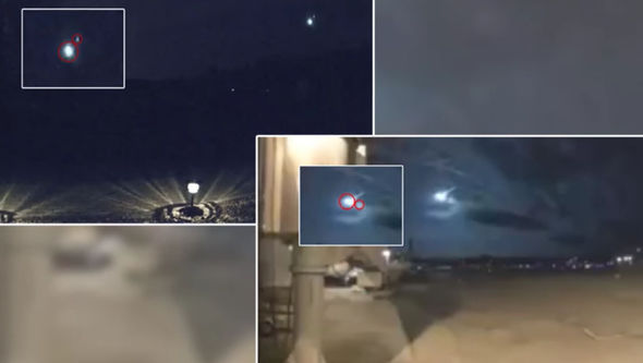 WATCH Moment meteor is struck by UFO to prevent it