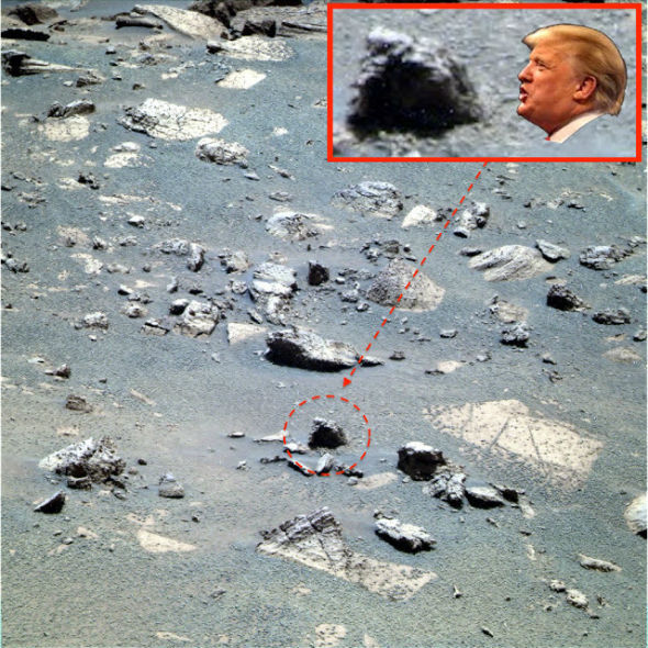 The location of the Trump face on Mars.