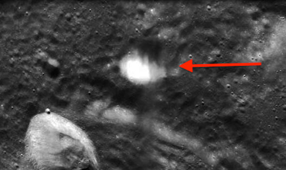 UFO sighting: Mysterious 'glowing clouds' on the Moon ...