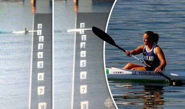 What A Way To Go Canoeist Falls Out Of Boat After Finishing Dead Last In Olympic Race