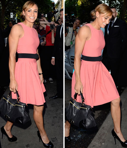 Jessica Ennis glammed up for a night out in London