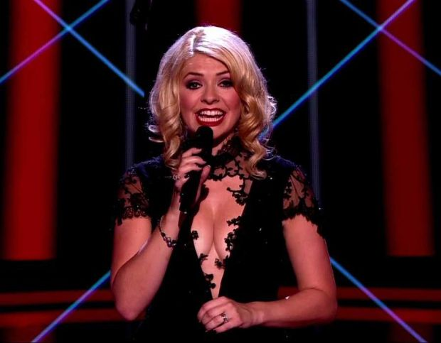 Holly Willoughby presenting the UK live final of The Voice