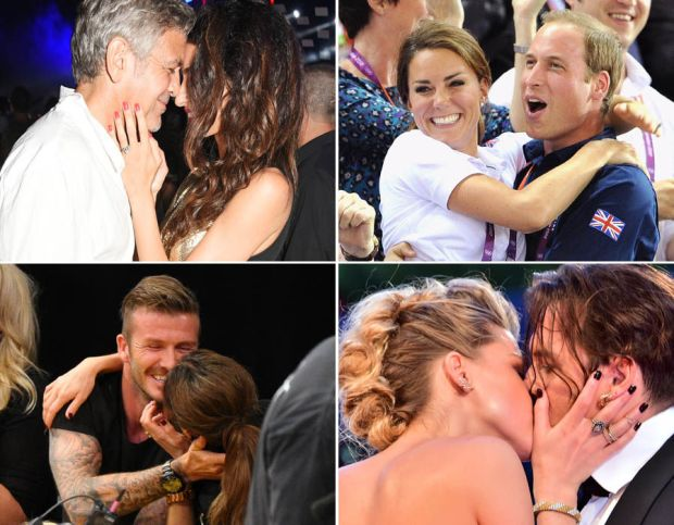 These loved up couples can't keep their hands off each other