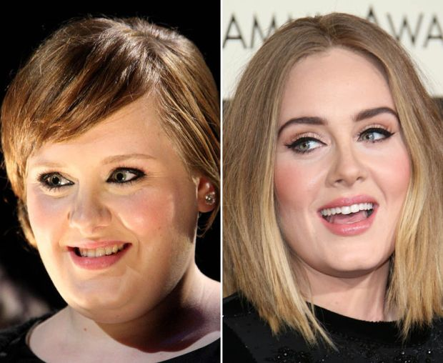 Singing phenomenon Adele's eyebrows transformation