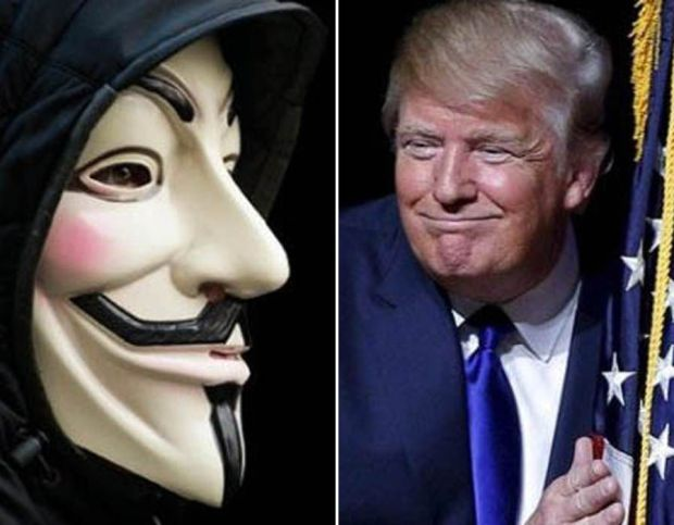Donald Trump is targeted by hacking group, Anonymous