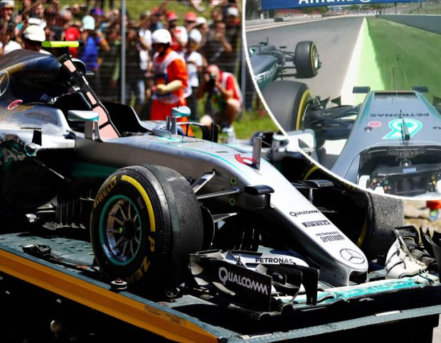 Hamilton and Rosberg collide in Spain