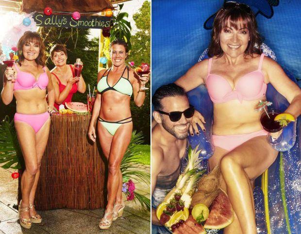 Lorraine Kelly flaunts her bikini body